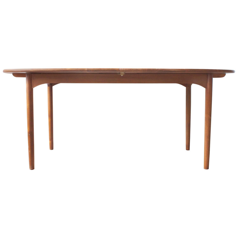 solid walnut mid century dining table at 1stdibs