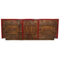 Custom Mid-Century Brutalist Dresser by Lane
