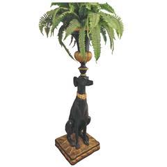 Blackamoor Style Greyhound Jardiniere