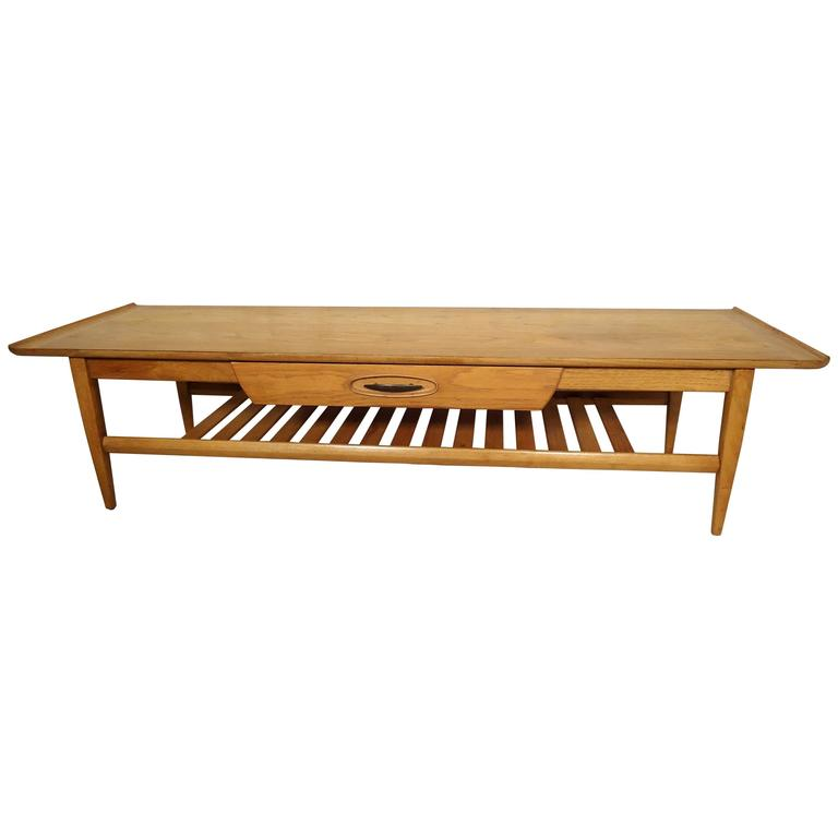 MidCentury Oak Coffee Table By Morganton For Sale At Stdibs - Mid century oak coffee table