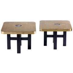 Pair of End Tables by Georges Mathias