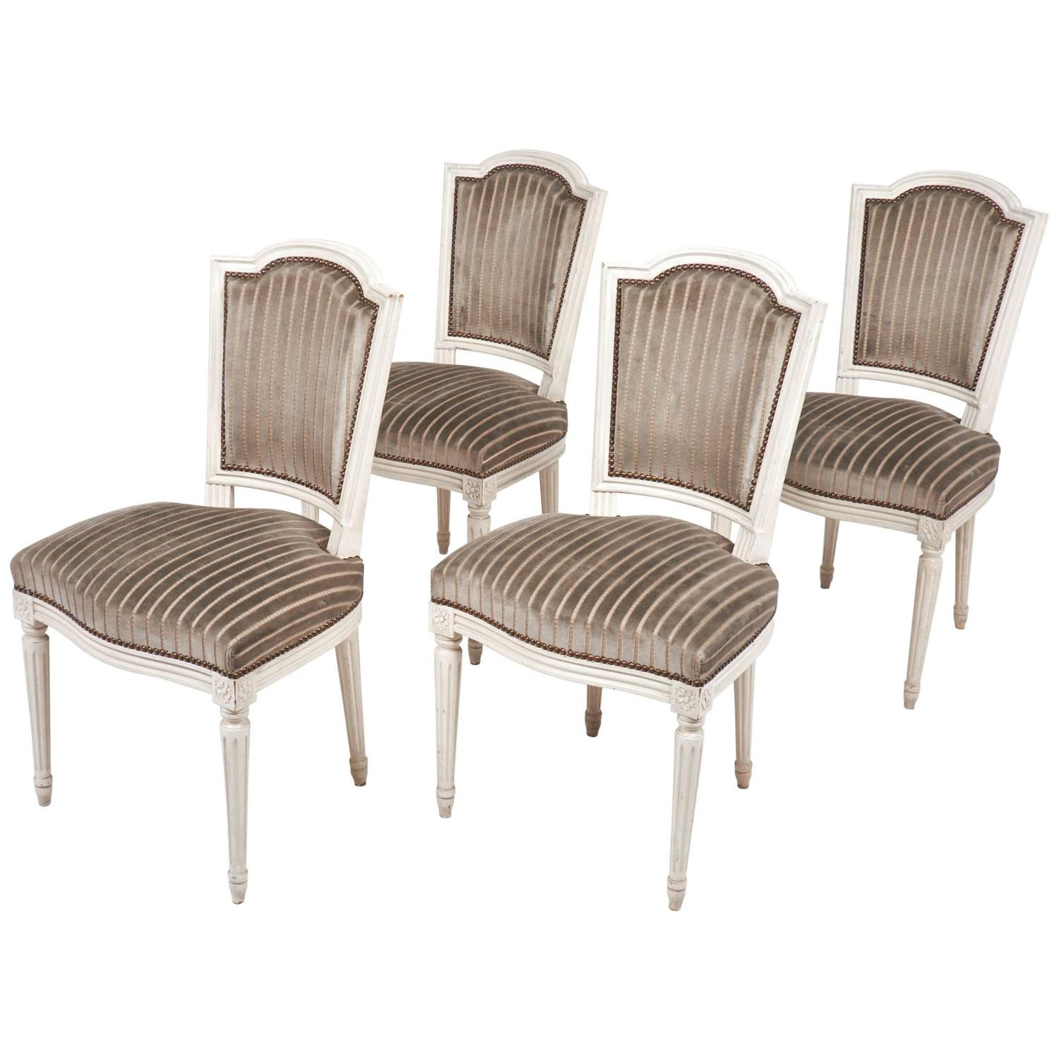 Set of four antique louis xvi style dining chair at 1stdibs