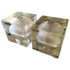 Alessandro Mendini Pair of Cubosfera Table Lamps