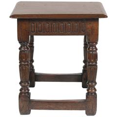 Early 17th Century English Joint Stool
