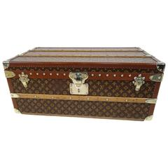 1950s Louis Vuitton Cabin Trunk or Malle Cabine Au Pochoir