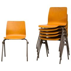 Kho Liang Le for Car Catwijk Industrial Stacking Chairs