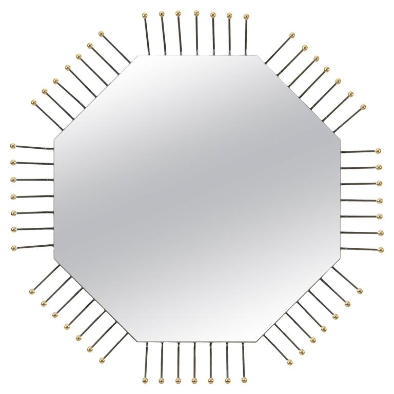 Mother Board Mirror in Octagon by Collection Particulière For Sale