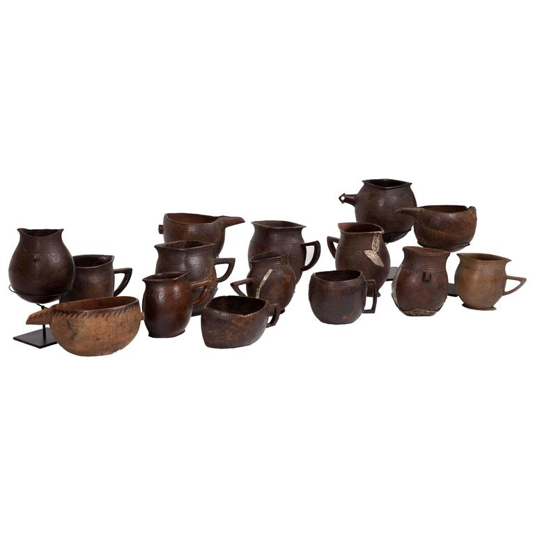 Collection of Antique Bash African Drinking Cups For Sale