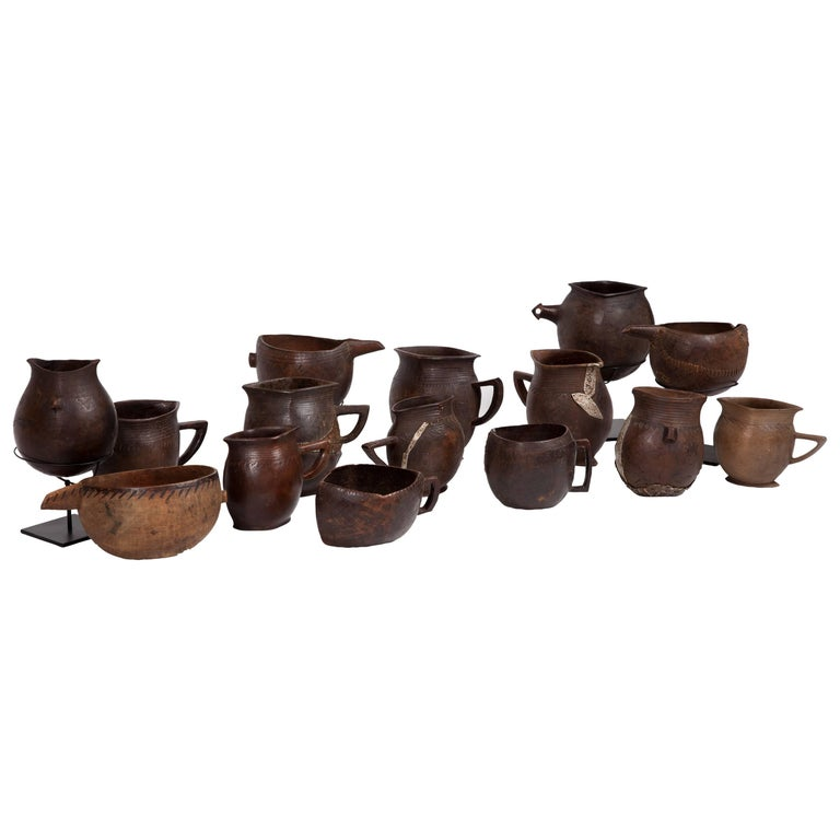 Collection of Antique Bash African Drinking Cups