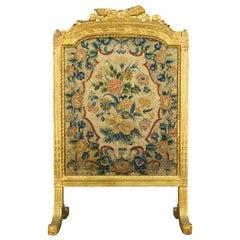 19th Century Louis XVI Style Fire Screen