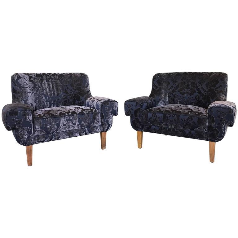 Pair of Custom Armchairs by Paul Laszlo
