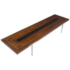 Large 8' Santos Rosewood Coffee Table on Steel Legs