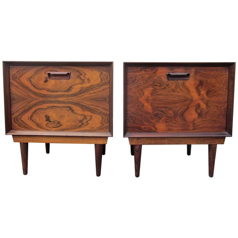 Pair of Arne Vodder Rosewood Nightstands