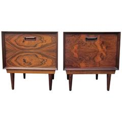 Pair of Arne Vodder Rosewood Nightstands