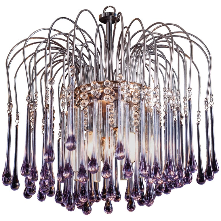 Murano Chandelier by Venini, 1960s For Sale