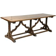 18th Century Jacobean Style Trestle Table