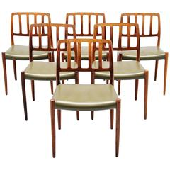 Niels Moller Model 83 Dining Chairs in Rosewood, Denmark, 1974