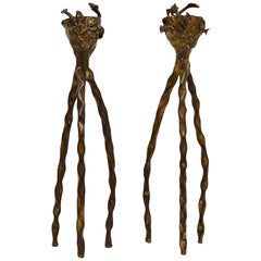 Alberto Giacometti Style Candle Holders, 1980