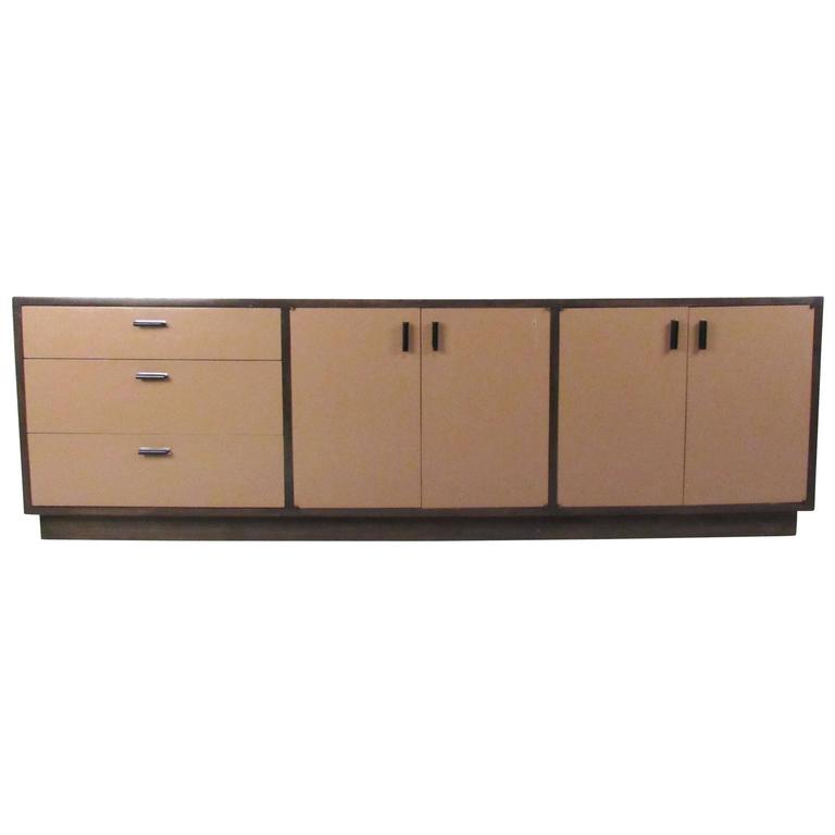 Vintage Office Credenza by Founders For Sale