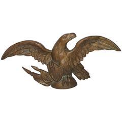 Fantastic 19th Century Gilded Bronze Eagle Statue