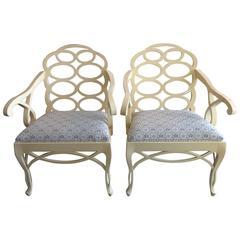 Pair of Francis Elkins Style Loop Chairs