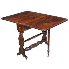 "Fine Desireable Mahogany Sunderland Table, Labeled ""J & J.W. Meeks"", NY"