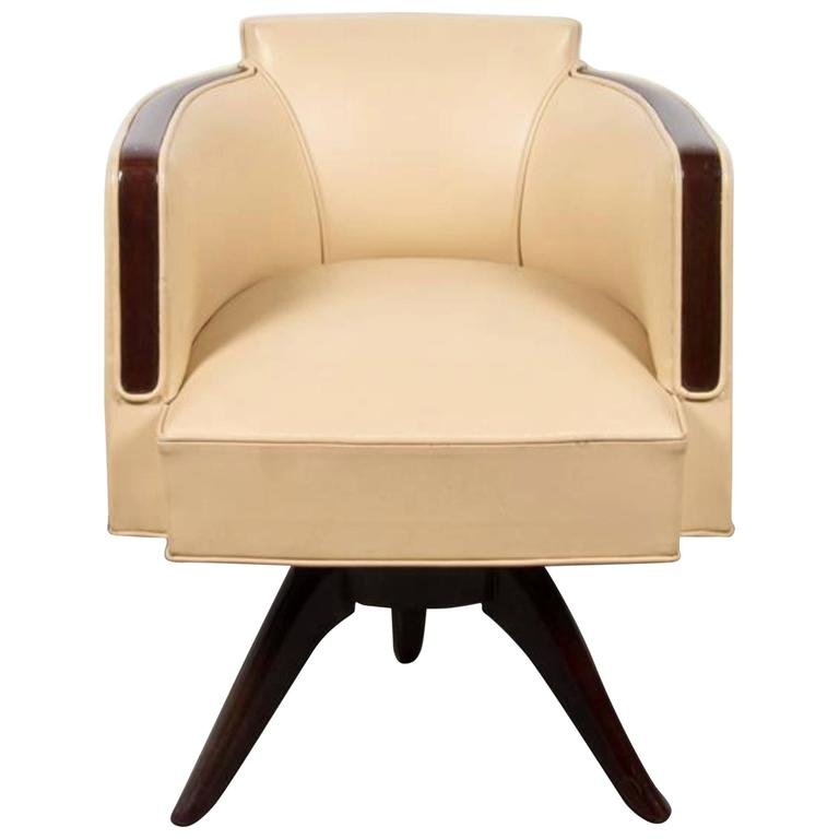 Art Deco Office Chair: Very Chic Art Deco Style Armchair Or Desk Chair For Sale