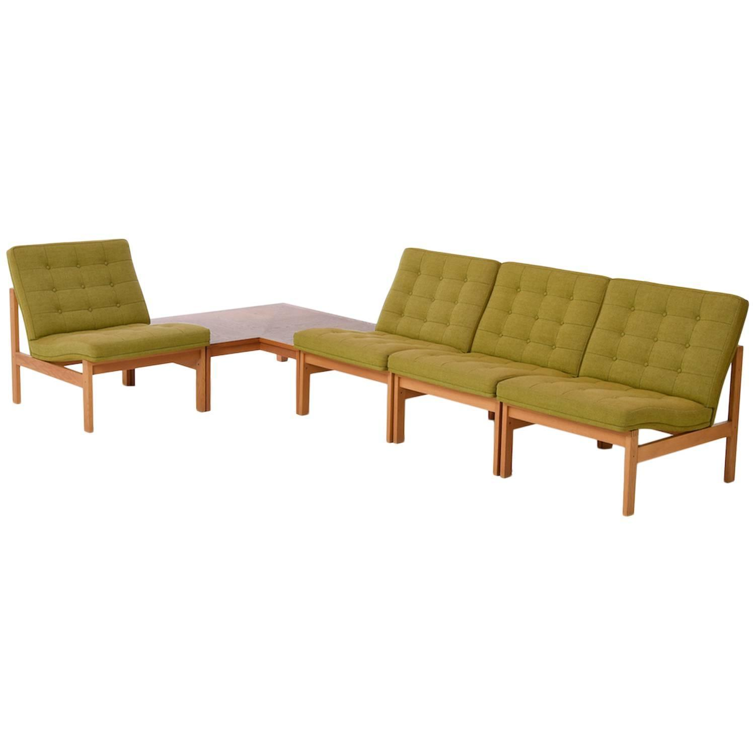 Sectional Sofa With Corner Table Hvidt And Orla M 248