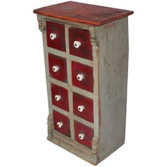 19th Century Original Painted Spice Box from Maine