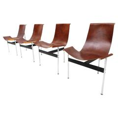 Set of Four T-Chairs by Katavolos, Littel & Kelly for Laverne Int. New York