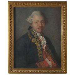 B104x 19th Century Portrait of a French Officer in Gilt Frame, Signed
