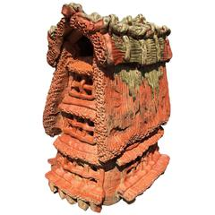 Japanese Large Ceramic House Ornament for Garden, Sun Space, Architectural Fun