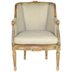French Louis XVI Style Wingback Chair