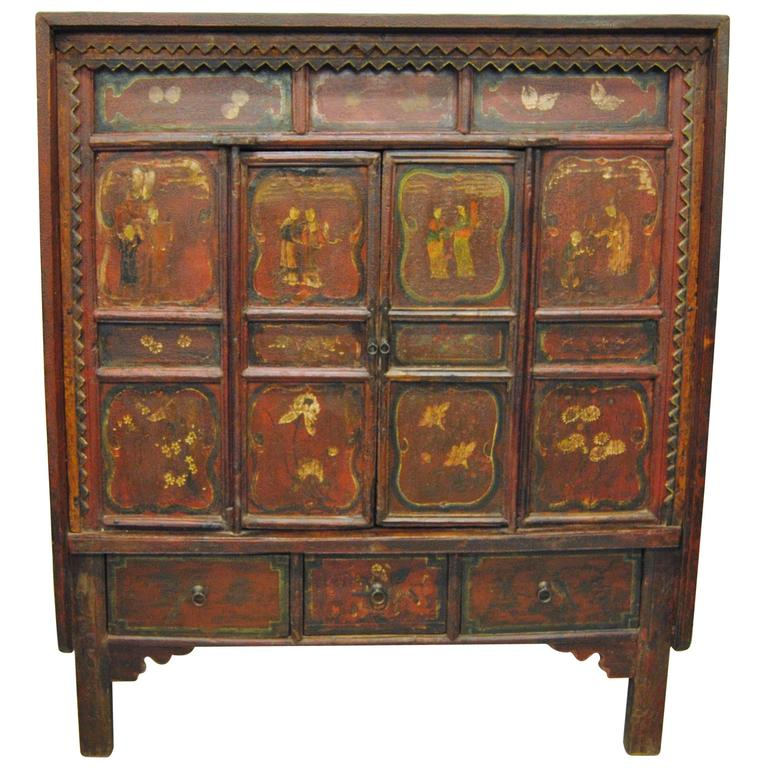 Gentil Antique Chinese Elmwood Armoire, Shanxi Province, 19th Century For Sale