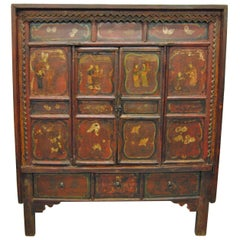 Antique Chinese Elmwood Armoire, Shanxi Province, 19th Century