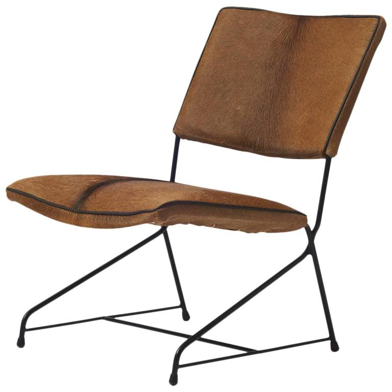 Italian Modernist Iron Lounge Chair For Sale at 1stdibs