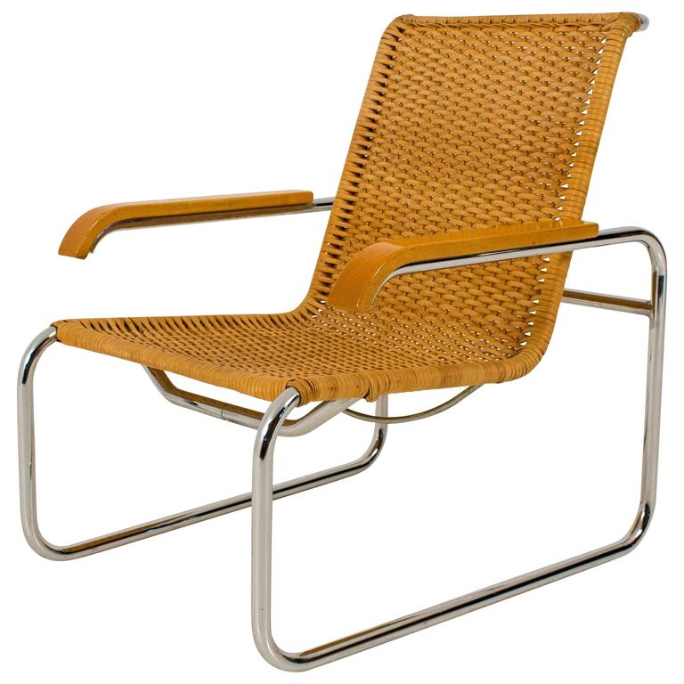 b 35 lounge chair by marcel breuer for thonet 1970s at 1stdibs. Black Bedroom Furniture Sets. Home Design Ideas