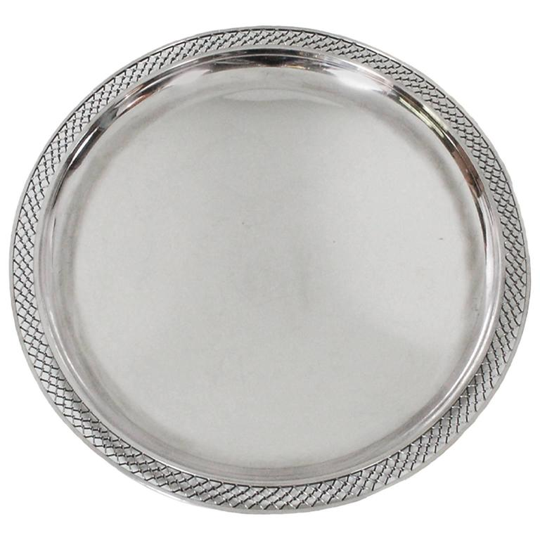 Sterling Silver Platter by Frantz Hingelberg For Sale