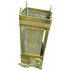 Aesthetic Antique Umbrella Stand, American Brass