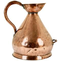 B202 Large Antique Scottish Four Gallon Haystack Copper Weights and Measures Jug