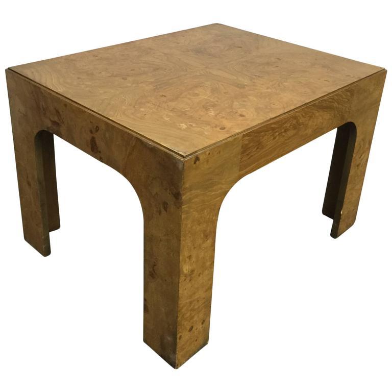 Vintage Burl Wood Slab Coffee Table At 1stdibs: Burl Wood Coffee Table By Milo Baughman, Circa 1970 At 1stdibs