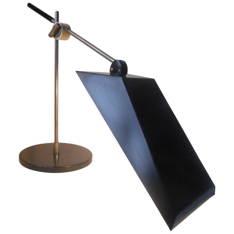 Rare Christian Dell Black Table Lamp Kaiser Leutschen, Germany, circa 1950
