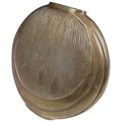 Contemporary Circular Brass Vase