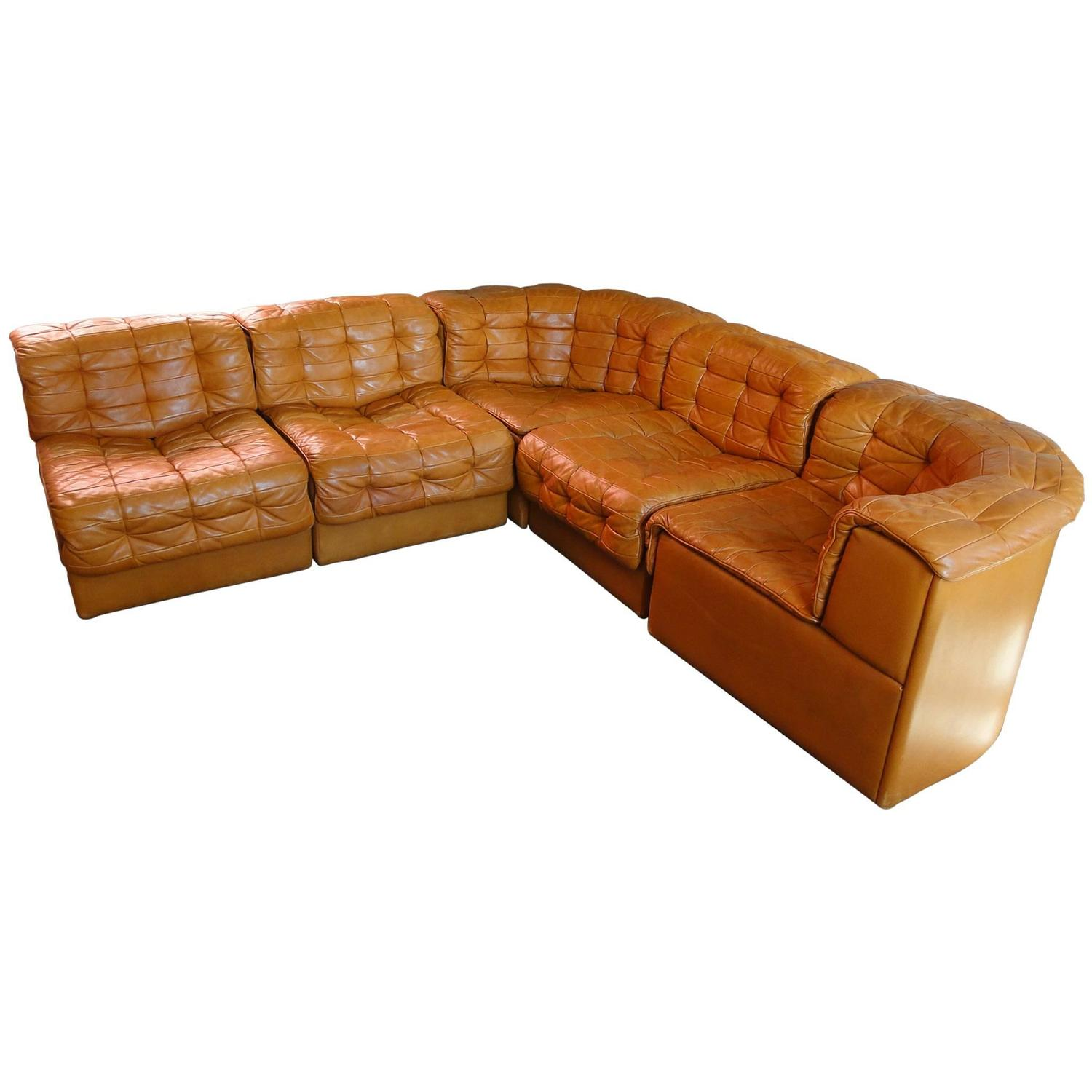 De sede leather patchwork chesterfield sofa in very good for Sofa patchwork