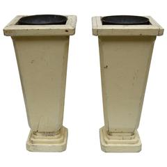 Pair of French Art Deco Wood Vases Circa 1930