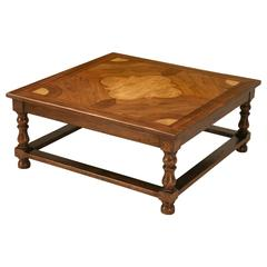 Inlaid French Inspired Square Coffee Table