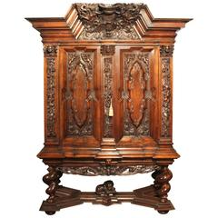 "19th Century German Baroque Style Cabinet on Stand, ""Danziger Schapp"""