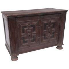Unusual English Mahogany Dresser