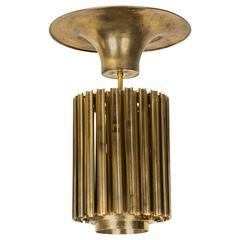 Rare Solid Brass Pendant by Giusseppe Raimondi