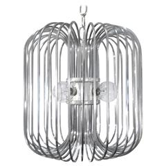 Sciolari Chrome Birdcage Chandelier